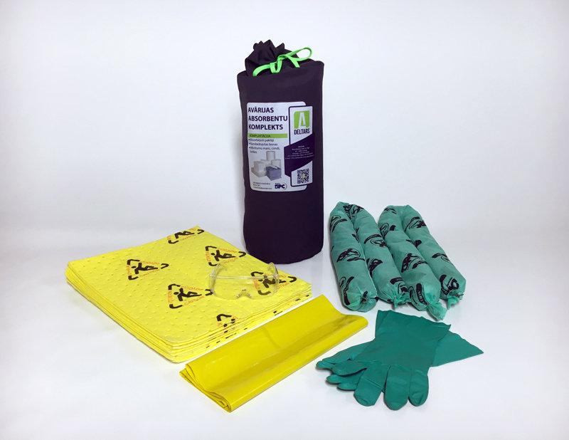 DELTARS-ĶĪMISKAIS-AR-PIKTOGRAMMU Avārijas noplūdes absorbentu komplekts