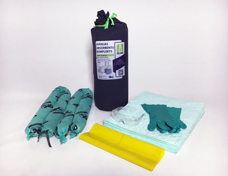 DELTARS-ĶĪMIJA Avārijas noplūdes absorbentu komplekts
