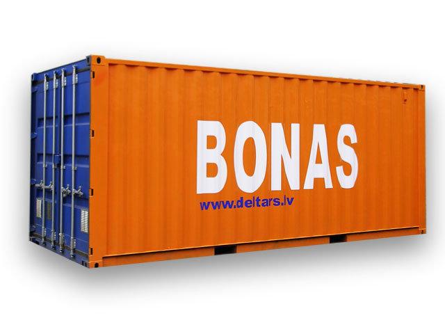 Bonu un vides aizsardzības materiālu uzglabāšanas konteineri